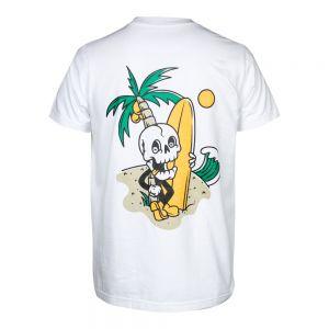 Camiseta Rock or die  Good Vibes Hombre Blanca