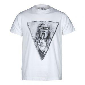 Camiseta Rock or die  The Lick Hombre Blanca