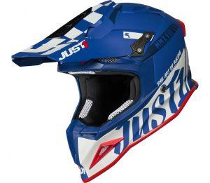 JUST1 J12 PRO RACER WHITE BLUE - Matt