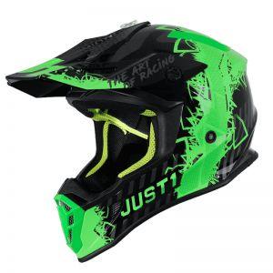 JUST1 J38 MASK FLUO GREEN TITANIUM BLACK