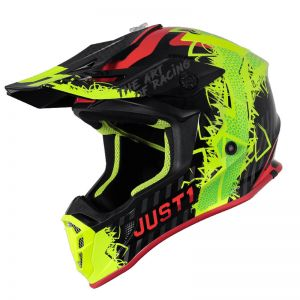 JUST1 J38 MASK FLUO YELLOW RED BLACK