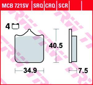 PASTILLAS SINTER TRW SWM RS125/GRAN MILANO