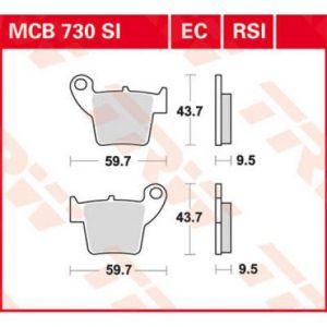 PASTILLA SINTER OFFROAD MCB730SI TRW