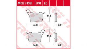 PASTILLA SINTER OFFROAD MCB743SI TRW