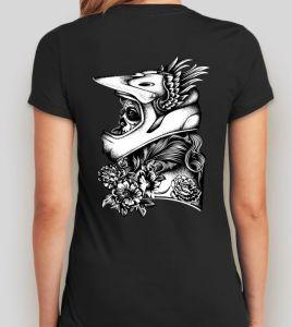 Camiseta Rock or die  Biker Girl Mujer