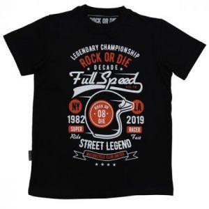 Camiseta Rock or die full speed negra hombre