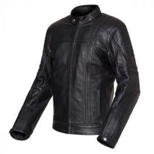 Chaqueta de moto de cuero negra Invictus Cronos