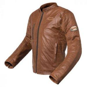 Chaqueta de moto cuero vintage Hector marrón