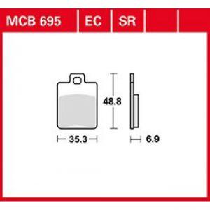 MCB695EC Pastilla freno TRW EC (Scooter premium)