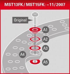 Kit de espaciadores solo para discos de BMW MST15FK