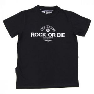 Camiseta Rock or die sex drugs negra hombre