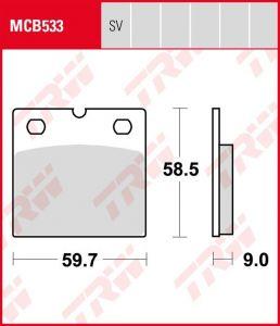 Pastillas De Freno Trw Bmw R 65/80/850/100-96MCB533SV