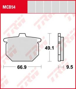 Pastillas De Freno Trw Honda Cb400-Cb750F80-