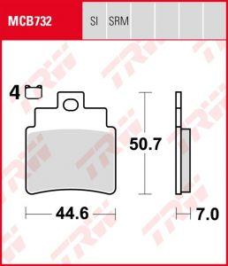 Pastillas De Freno Trw Scooter MCB732LC  Juego de 4