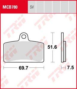 Pastillas De Freno Trw Derbi Gpr 125 04-06Ant.MCB780SV