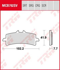 Pastillas De Freno Trw  Hypercarbon Racing  Ducati 1098 07-Mv Agusta F4 1000 07- Ant.