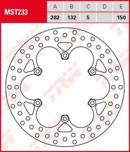 Disco de freno fijo TRW  MST233