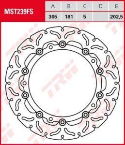 Disco de freno flotante TRW  MST239FS