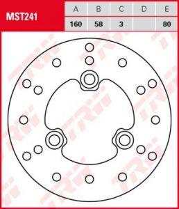 Disco de freno fijo TRW  MST241