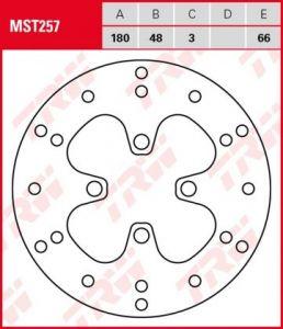 Disco de freno fijo TRW  MST257
