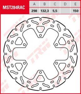 Disco de freno fijo RACING TRW  MST284RAC