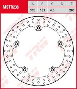 Disco de freno fijo BMW no necesita tornilleria adicional TRW  MSTR238