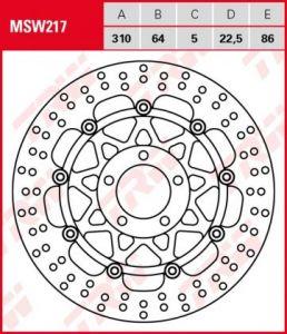Disco de freno flotante  TRW  MSW217