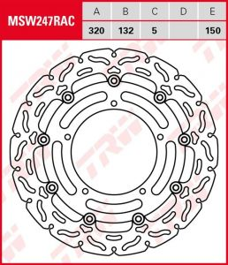 Disco de freno flotante RACING TRW MSW247RAC