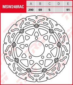 Disco de freno flotante RACING TRW MSW248RAC