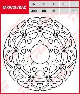 Disco de freno flotante RACING TRW MSW257RAC