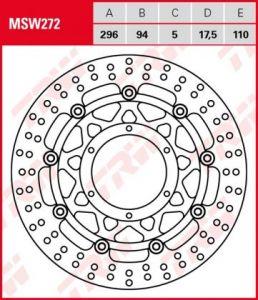 Disco de freno flotante  TRW  MSW272